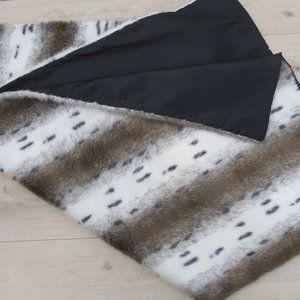 Snow Leopard faux fur throw